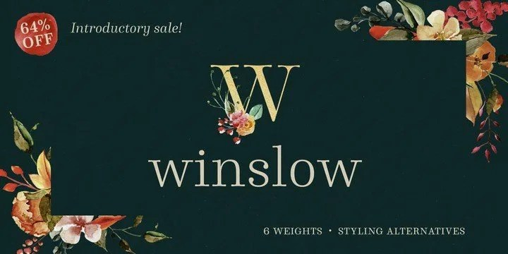 Winslow Book [12 Fonts] | The Fonts Master