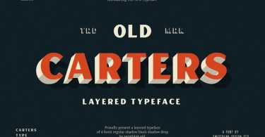 Carters Layered [4 Fonts]