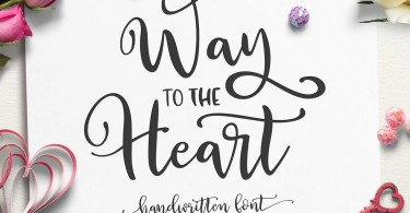 Way To The Heart [2 Fonts]
