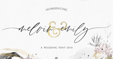 Melvin & Emily Font Duo [2 Fonts]