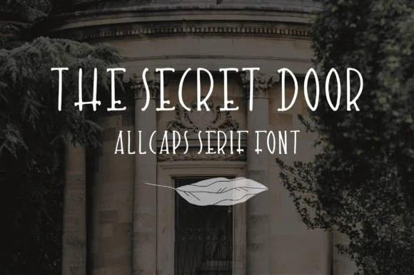 The Secret Door [1 Font]   The Fonts Master