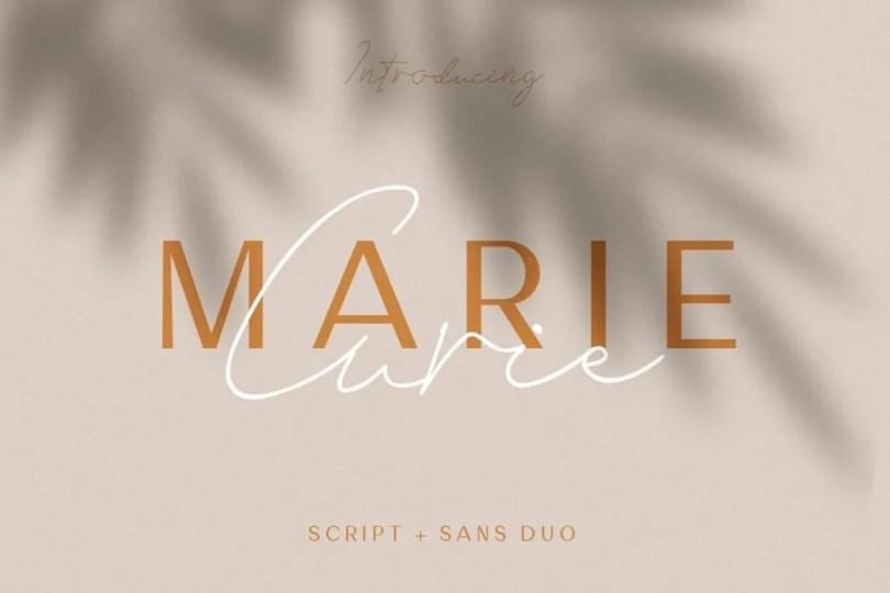 Marie Curie Regular &Amp; Script [2 Fonts]   The Fonts Master