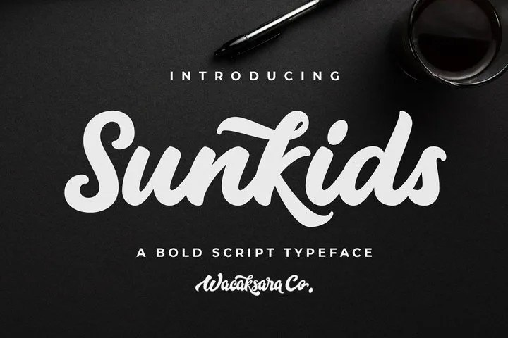 Sunkids [1 Font] | The Fonts Master