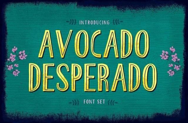 Avocado Desperado [4 Fonts]   The Fonts Master