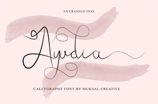 Ayudia [1 Font] | The Fonts Master