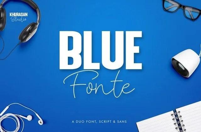 Blue Fonte [2 Fonts] | The Fonts Master
