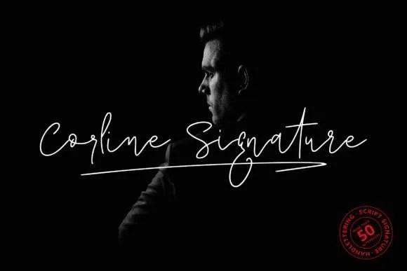 Corline Signature [2 Fonts]   The Fonts Master
