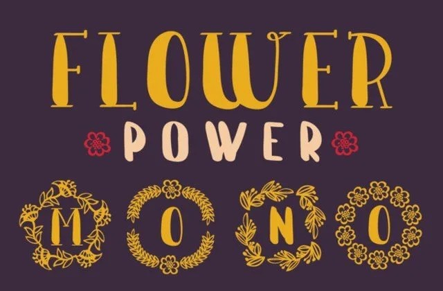 Flower Power [1 Font]   The Fonts Master