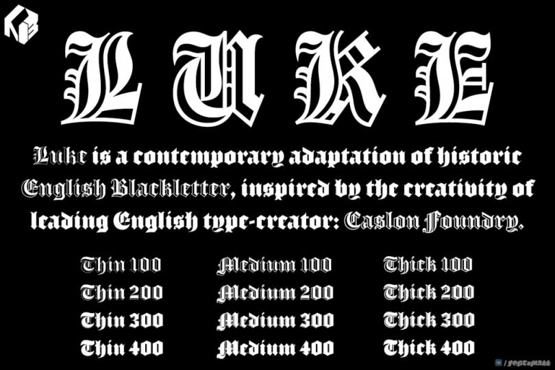 Luke Super Family [12 Fonts] | The Fonts Master