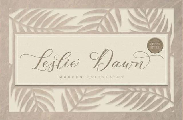 Leslie Dawn [3 Fonts]   The Fonts Master