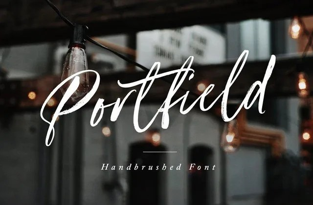 Portfield [2 Fonts]   The Fonts Master