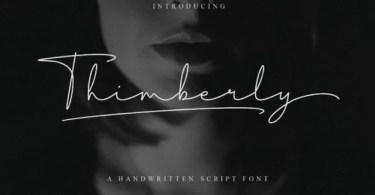 Thimberly [1 Font]