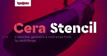 Cera Stencil Pro Super Family [6 Fonts]