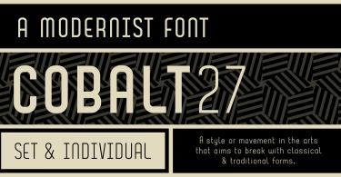 Cobalt 27 [4 Fonts]