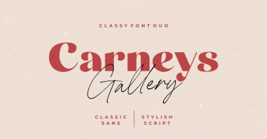 Carneys Gallery [2 Fonts]