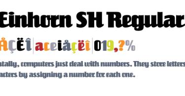 SG Reinhorn SH Regular [1 Font]