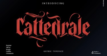 Cattedrale [5 Fonts]