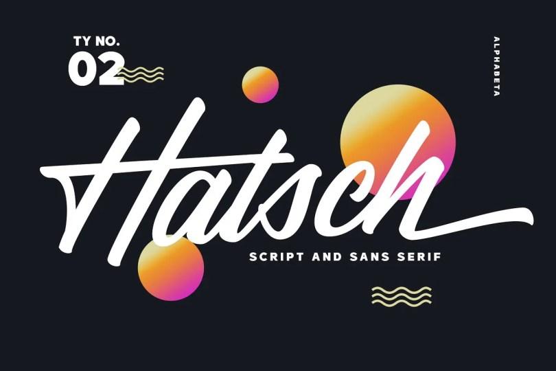 Hatsch Family [2 Fonts]