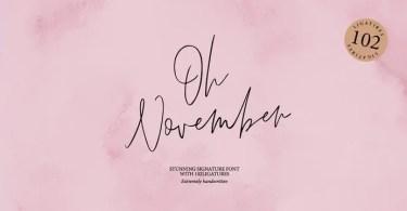Oh November [1 Font]