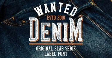Wanted Denim [6 Fonts]