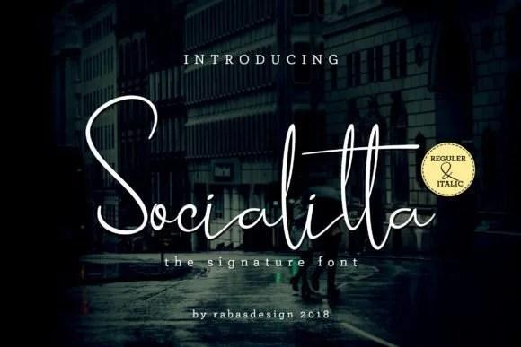 Socialitta [2 Fonts]