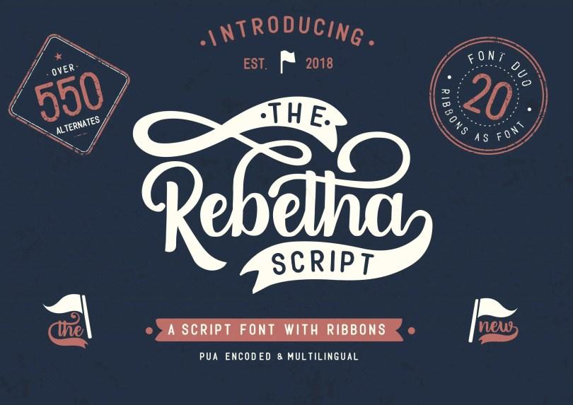 Rebetha Font Duo + Extras [3 Fonts & Extras]