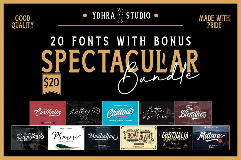 Ydhra Studio - Spectacular Bundle [25 Fonts]