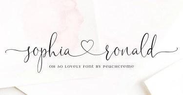 Sophia Ronald [1 Font]