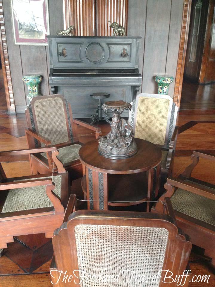 Living room at Apacible's house