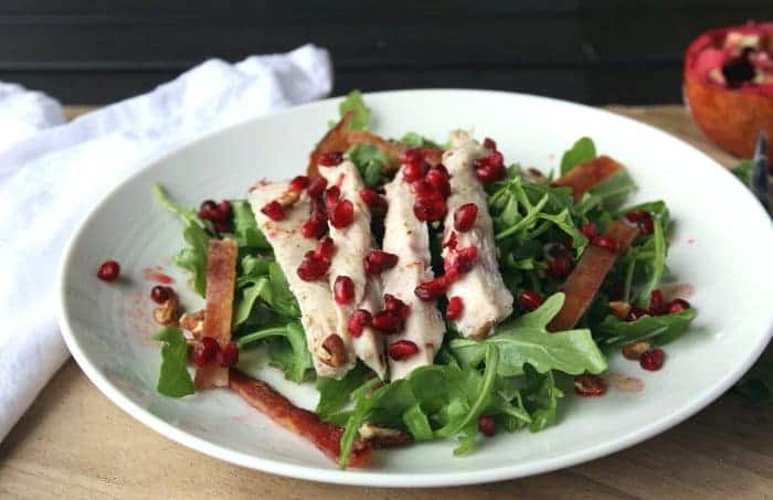 Turkey Breast Salad - Turkey, Pomegranate, Bacon, Walnut Salad