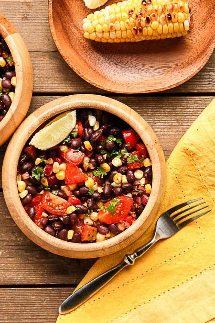 Grilled Corn & Black Bean Salad-
