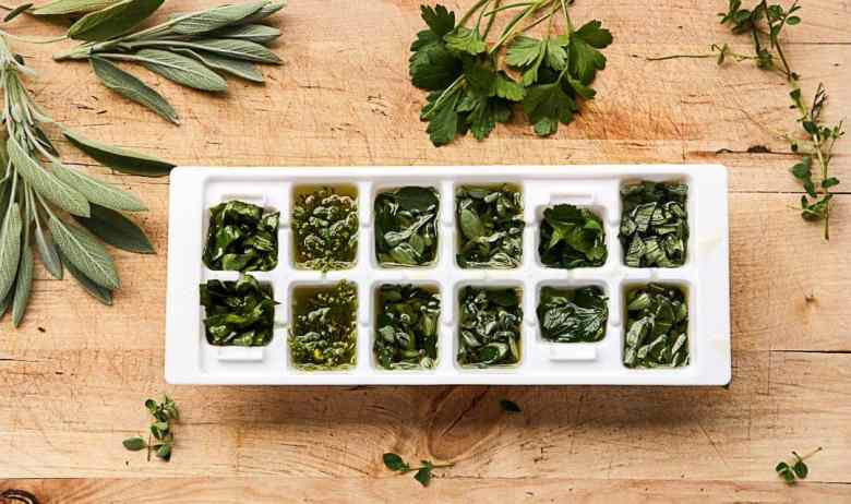Herb Cubes to Freeze