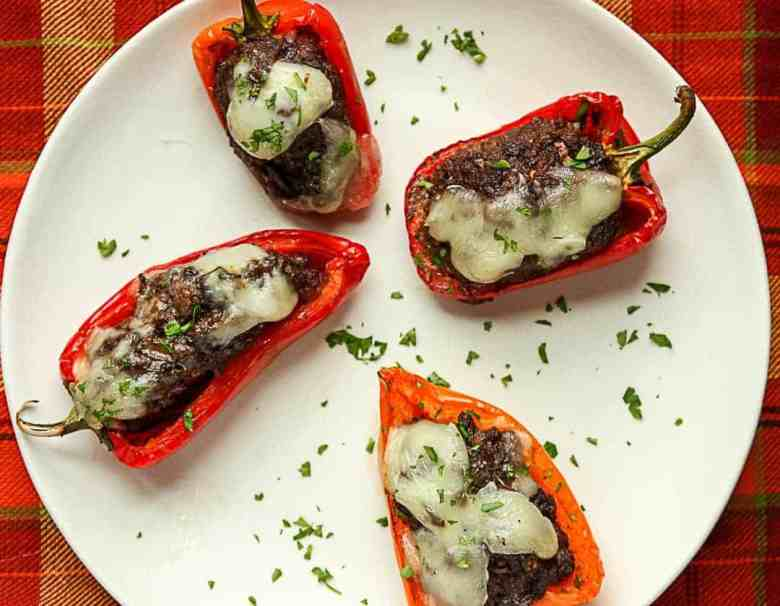 Black Bean Stuffed Mini Peppers