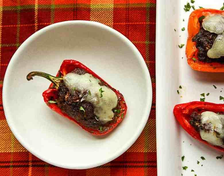 Black Bean Stuffed Mini Peppers