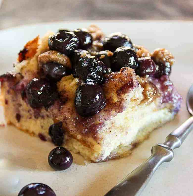 Make Ahead Blueberry French Toast Casserole