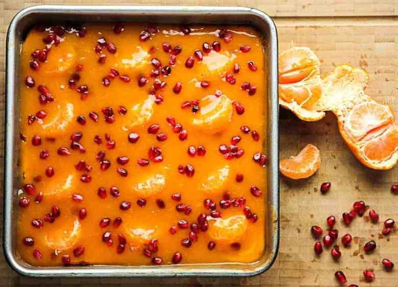 Pomegranate Mandarin Cheesecake