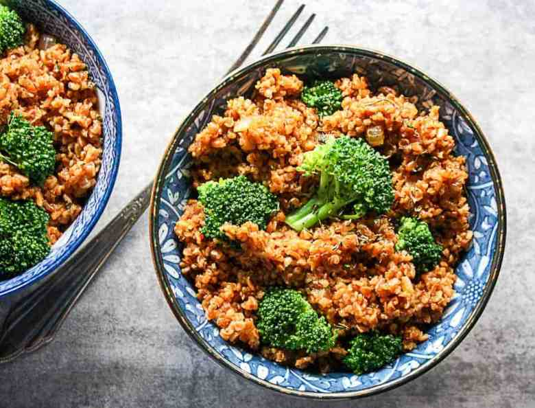 Broccoli Bulgur Pilaf