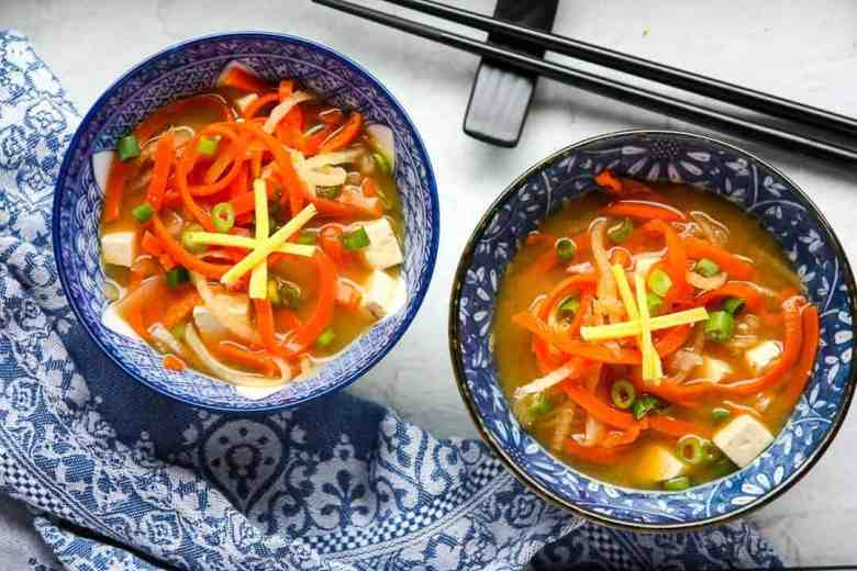 Vegetable Miso Soup – Miso Based Vegetable Soup