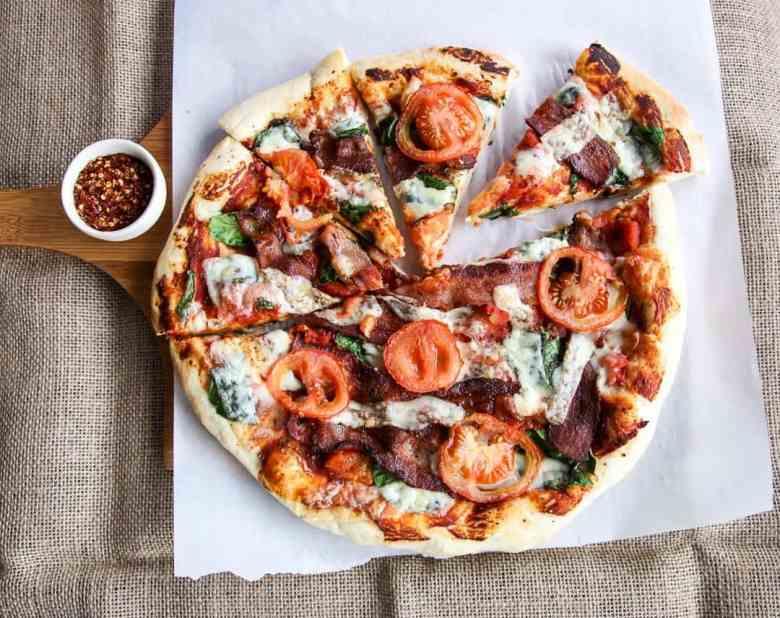 Pizza Recipe – Bacon, Spinach & Tomato Pizza