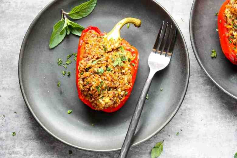 Stuffed Peppers, Moroccan Style