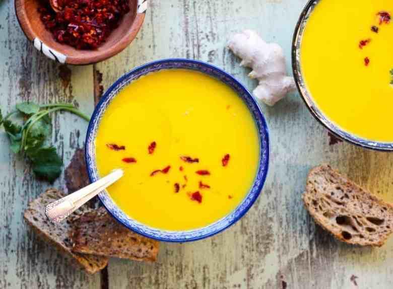 Ginger Carrot Lentil Soup