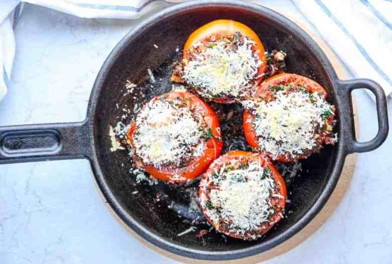 Quinoa and Kale Stuffed Tomatoes