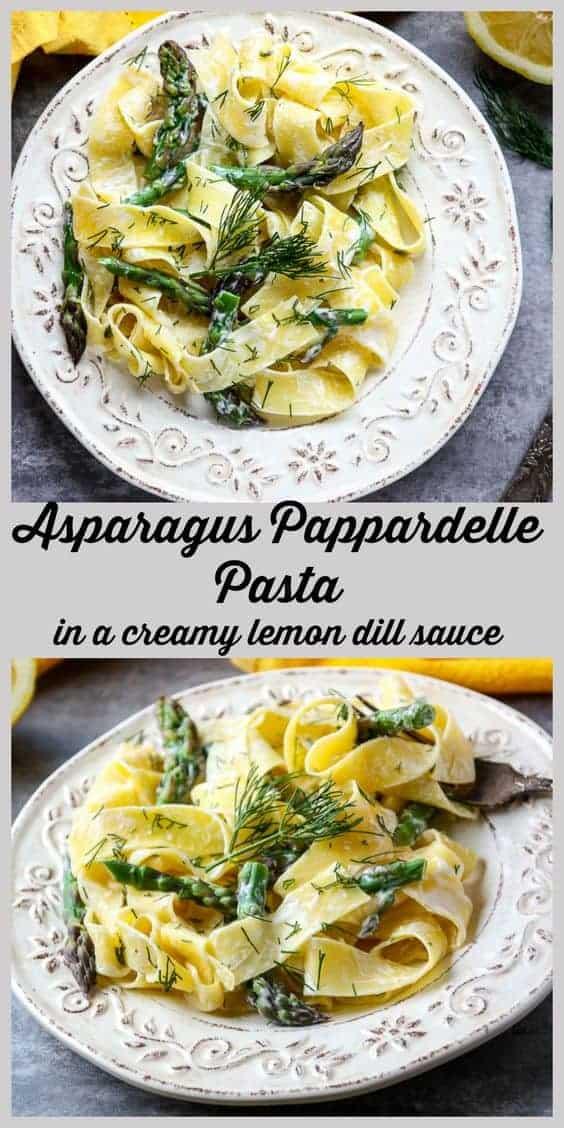 Lemon Pappardelle Asparagus Pasta-
