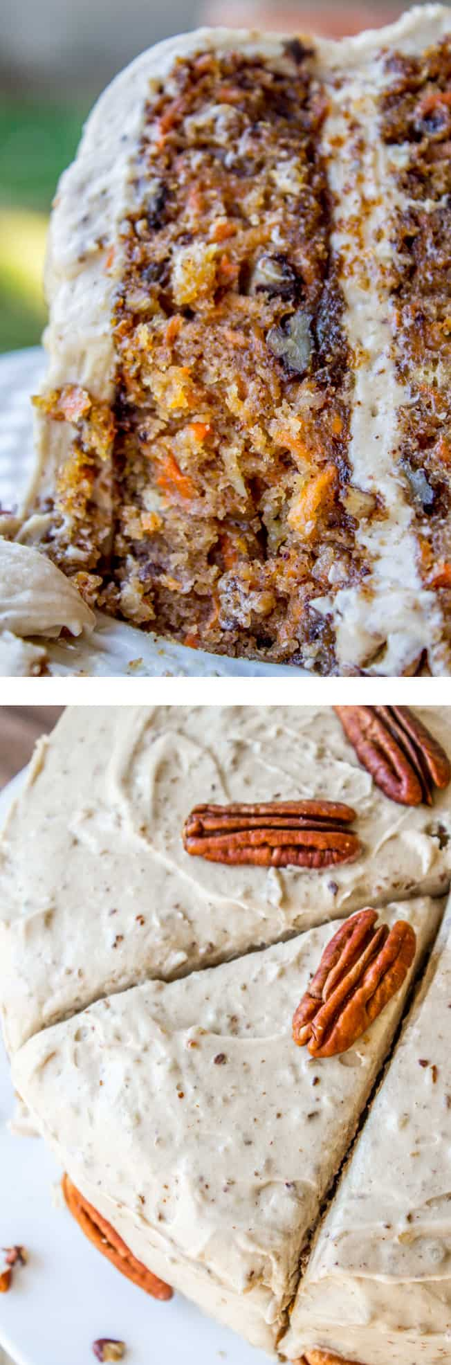 Carrot Cake with Cream Cheese Maple Pecan Frosting   The Food Charlatan Crushed pineapple makes it super moist  It s a great layer cake for spring   and would make a perfect dessert for Easter