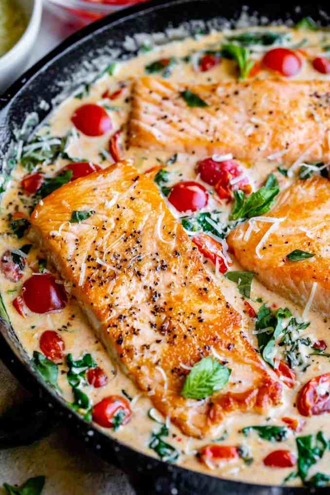 Creamy Tuscan Salmon (30 Minute Dinner!) - The Food Charlatan