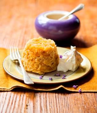 Sweet Potato and Lavender Sponge Pudding