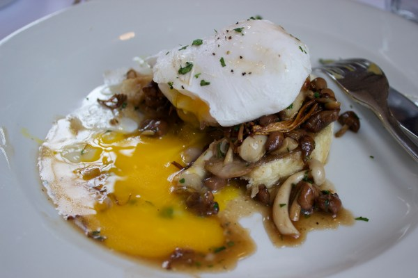 The Portman poached duck egg