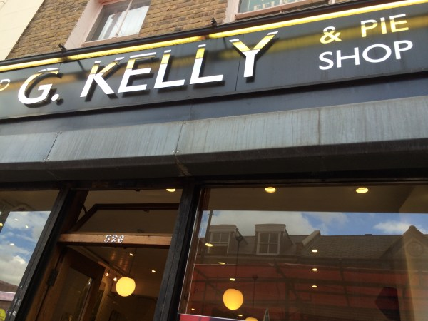 G.Kelly pie and mash shop
