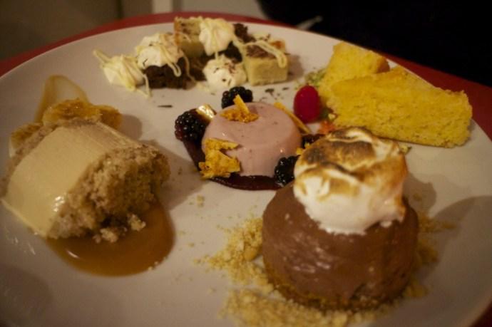 The Pudding Bar tasting menu