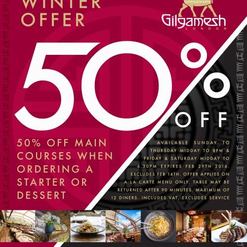 Gilgamesh 50% Offer
